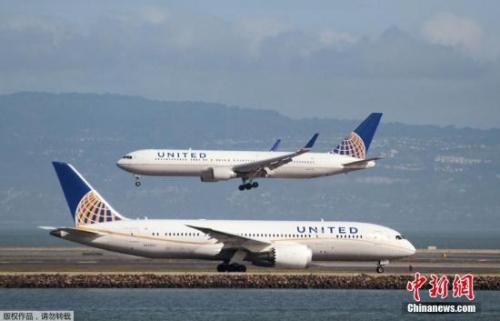 資料圖:美聯航客機