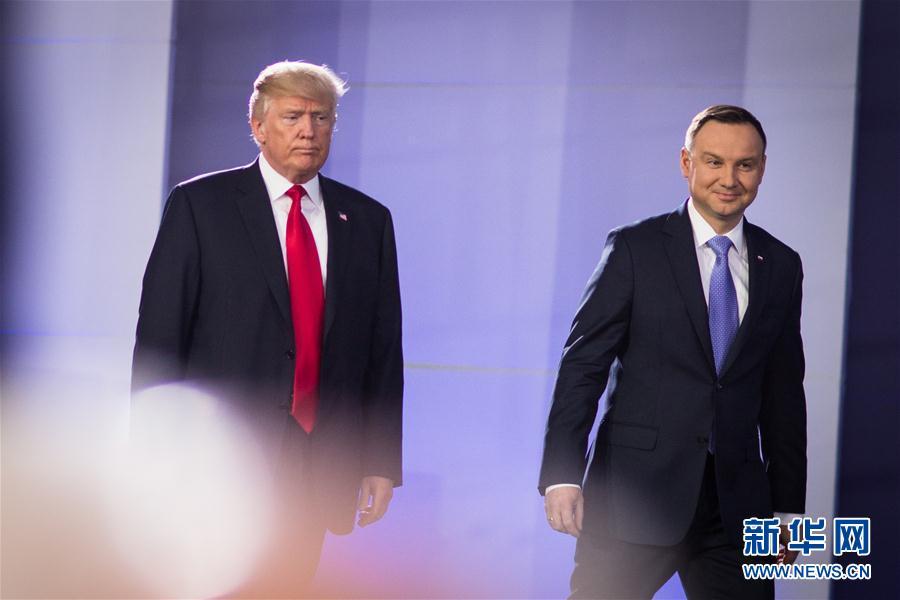 (XHDW)(1)美國總統特朗普訪問波蘭