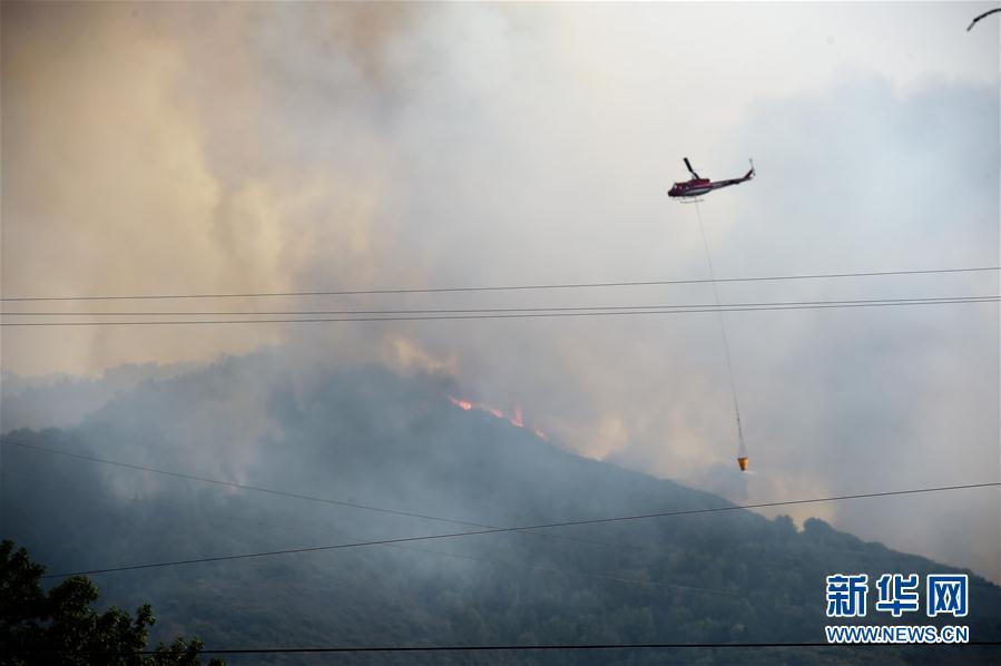 (国际)(6)美国加州森林大火持续蔓延