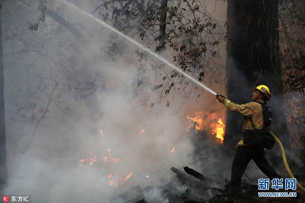 美国加州史上最致命山火已致40人死 10万居民紧急撤离