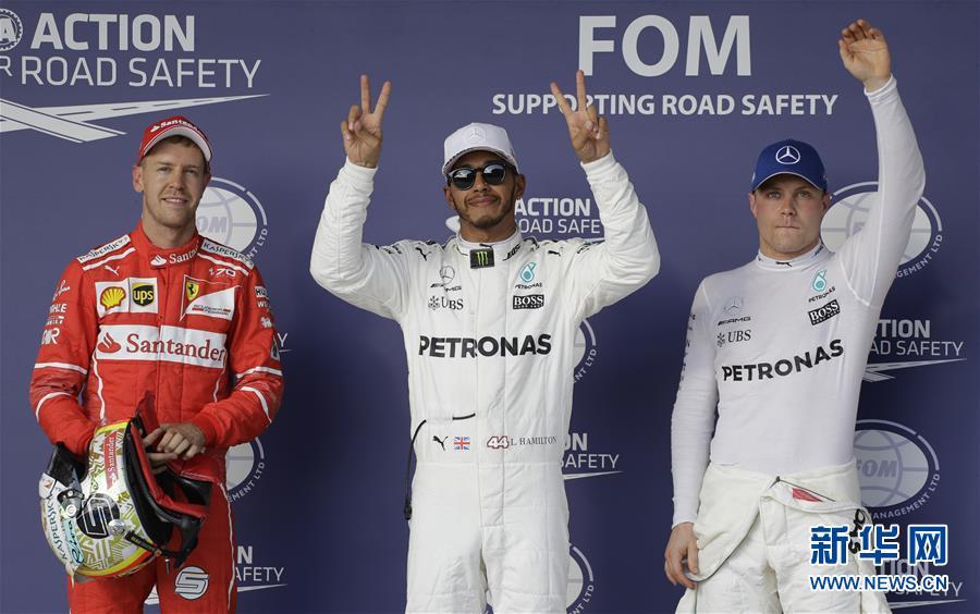 (體育)(2)賽車——F1美國大獎賽:漢密爾頓奪得桿位