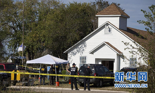 美国得州教堂枪击事件造成至少27人死亡