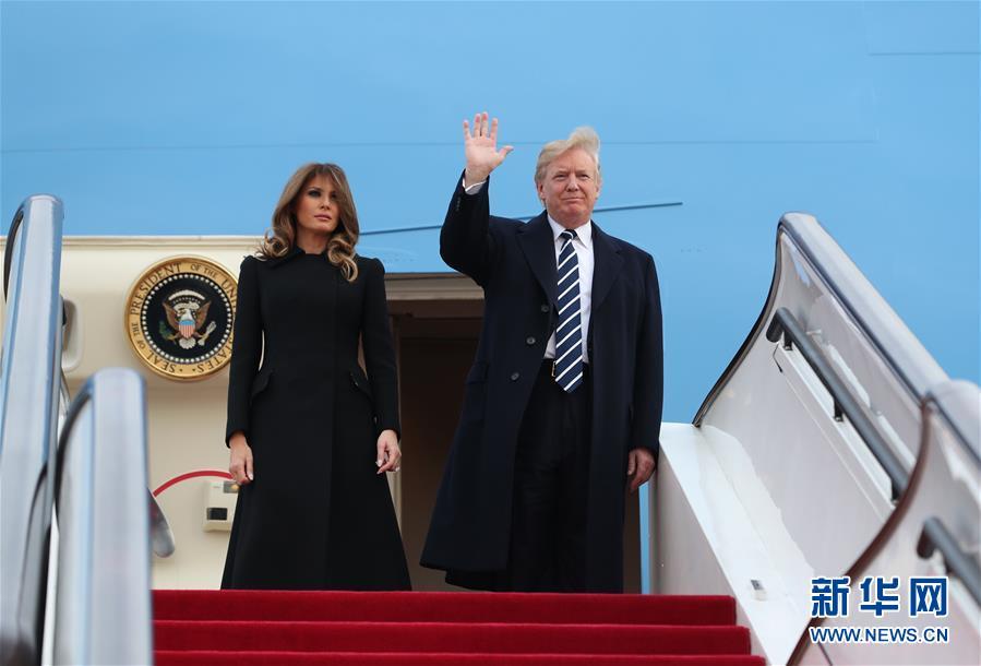 美国总统特朗普抵京对中国进行国事访问