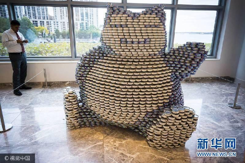 美國紐約舉行罐頭雕塑大賽 創意慈善拼的是腦洞!