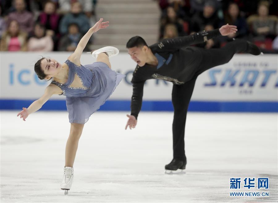 (體育)(3)花樣滑冰——國際滑聯大獎賽美國站:于小雨/張昊獲雙人滑亞軍