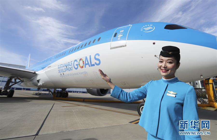 (國際)(1)聯合國特殊涂裝飛機交付廈航