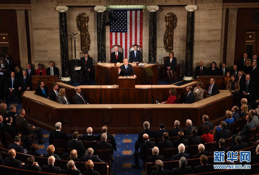 (國際)(1)特朗普發表其執政以來的首次國情咨文演講
