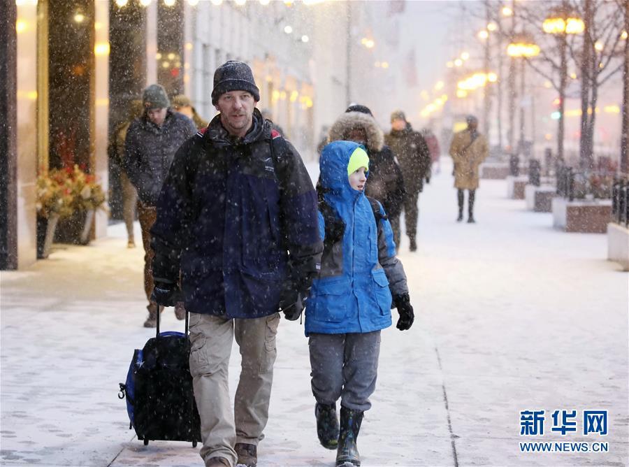 (國際)(1)芝加哥降雪