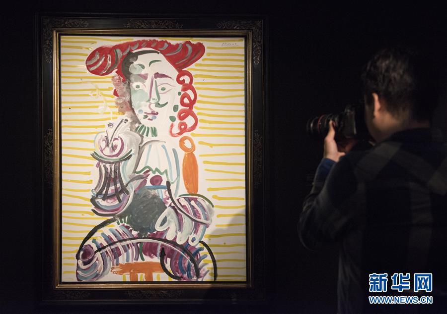 (XHDW·圖文互動)(1)逾40幅畢加索與康多肖像畫作品亮相香港