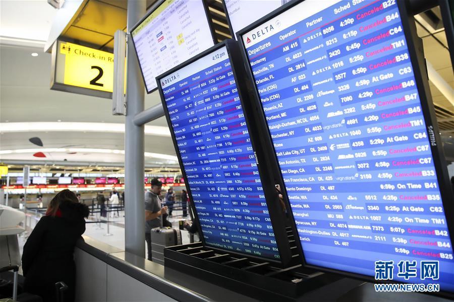 (國際)(3)暴風雪致紐約航班大面積取消