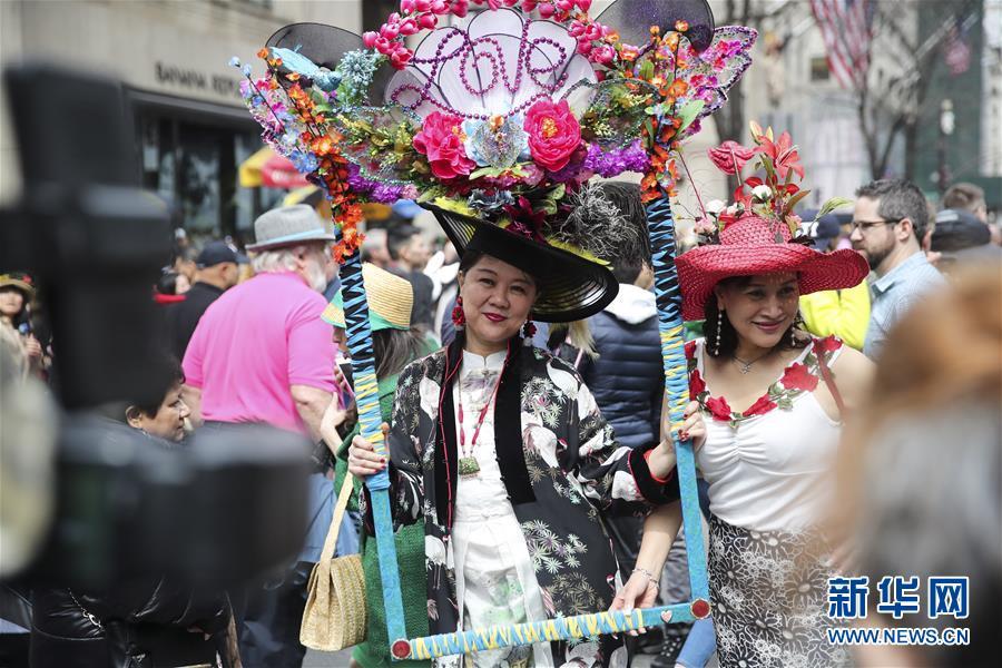(國際)(1)紐約舉行復活節花帽遊行