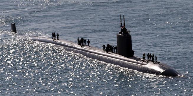 美軍哥倫布號核潛艇抵韓參加韓美聯演