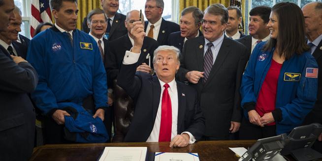 特朗普簽署新法案 增加NASA預算用于太空探索