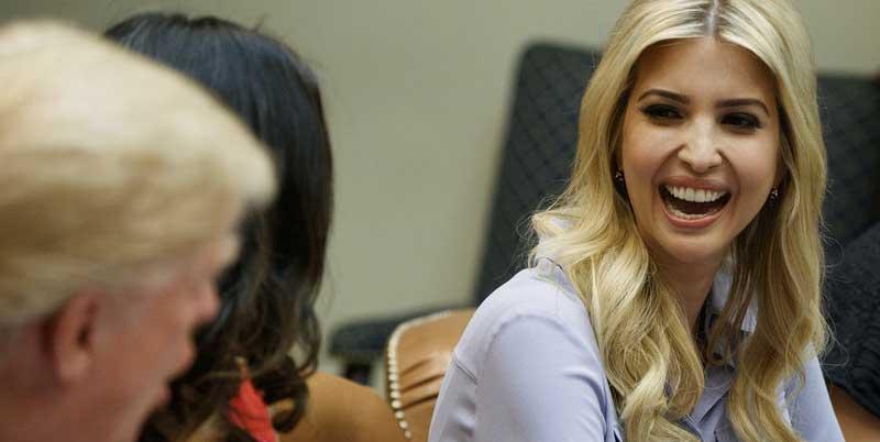 特朗普在白宮會見女性小企業主 女兒伊萬卡同出席