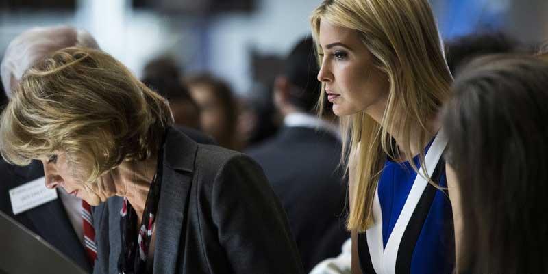 特朗普女兒伊萬卡出席活動 優雅大方氣質好
