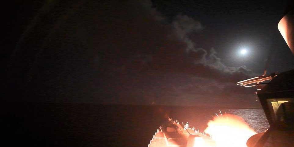 美發射數十導彈打擊敘空軍基地 係首次直接打擊