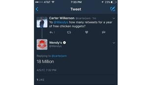 美國少年有望打破推特轉發紀錄