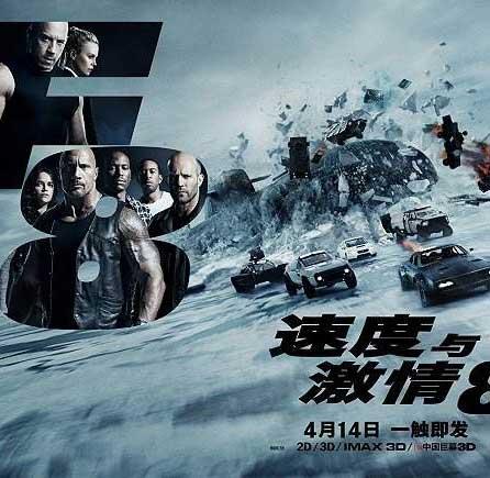 北美票房:《速度與激情8》奪冠