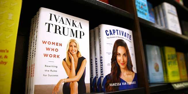 特朗普女兒伊萬卡新書上架 各大書店擺放位置醒目