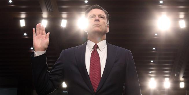 原聯邦調查局局長詹姆斯·科米國會作證