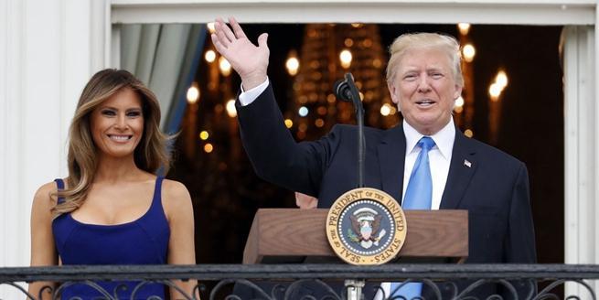 特朗普宴請軍人家庭慶祝美國獨立日