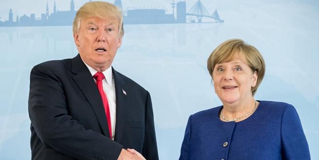 特朗普首秀G20峰會終于和德國總理握手 默克爾表情亮了!
