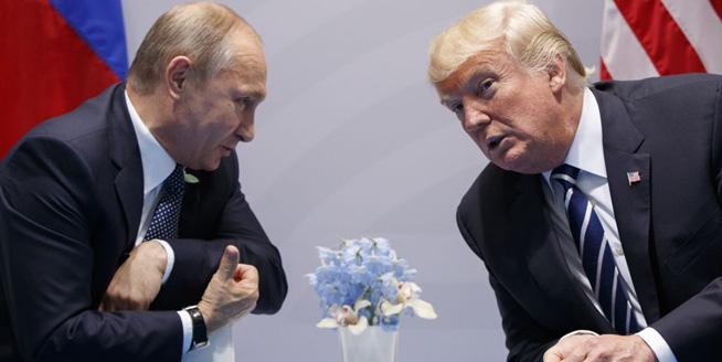 普京特朗普舉行首次會晤