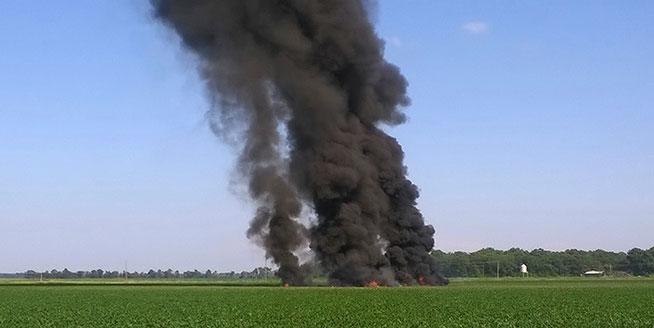 美軍一架空中加油機在密西西比州墜毀