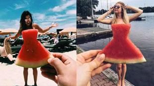西瓜不僅能吃,還能做裙子