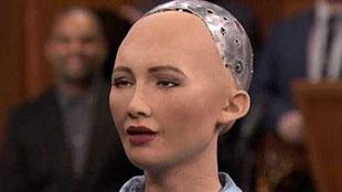 機器人上美國脫口秀 人類愛上機器人沒啥大不了
