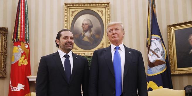 特朗普在白宮與黎巴嫩總理會晤雙方熱聊