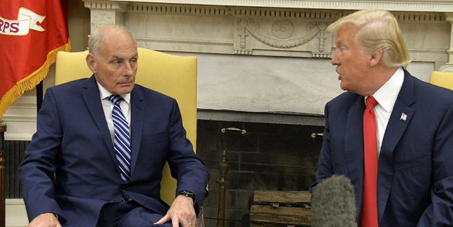 新任白宮幕僚長約翰·凱利走馬上任