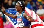 田徑百米決賽:鮑伊成女飛人