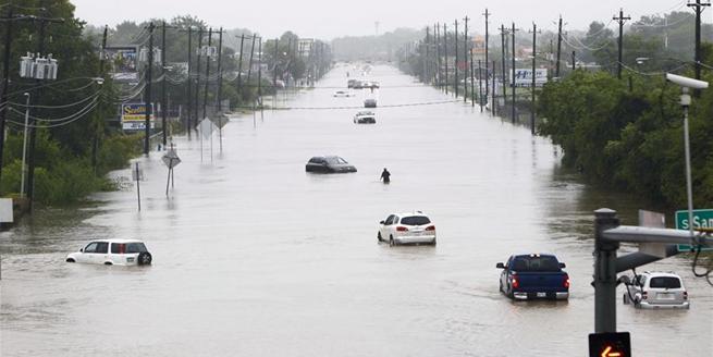 颶風帶來強降雨 美國休斯敦內澇嚴重