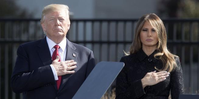 特朗普攜妻子在五角大樓紀念911恐襲16周年