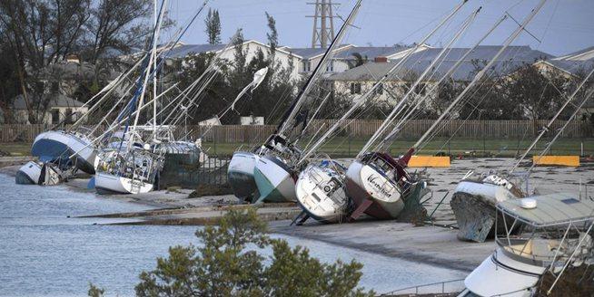 航拍美國佛羅裏達群島颶風過後景象
