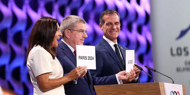 奧委會確認巴黎和洛杉磯分別為2024和2028年奧運會舉辦城市