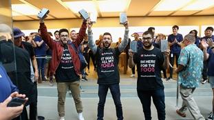 iPhone 8在澳發售 果粉徹夜排隊11天(組圖)