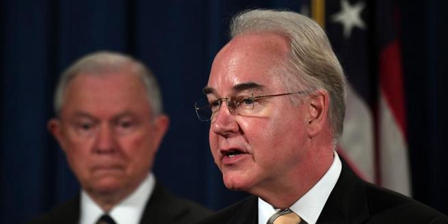 美國衛生與公眾服務部長普賴斯辭職