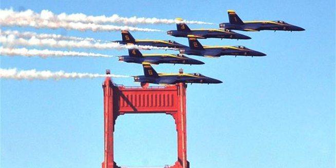 美國舊金山舉行艦隊周飛行表演