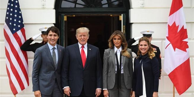 美國總統特朗普會見加拿大總理特魯多