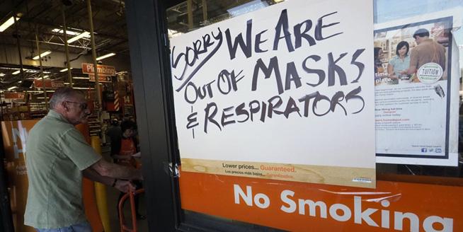 北加州山火致空氣污染 超市防霾口罩售罄