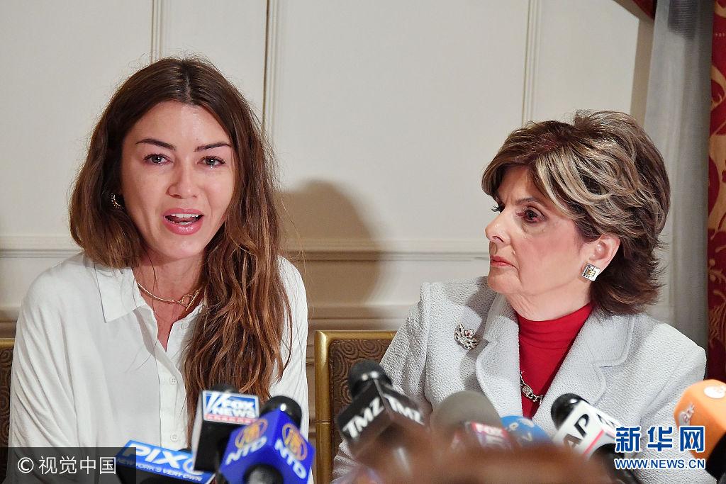 女制片助理召開記者會 控訴遭溫斯坦性侵