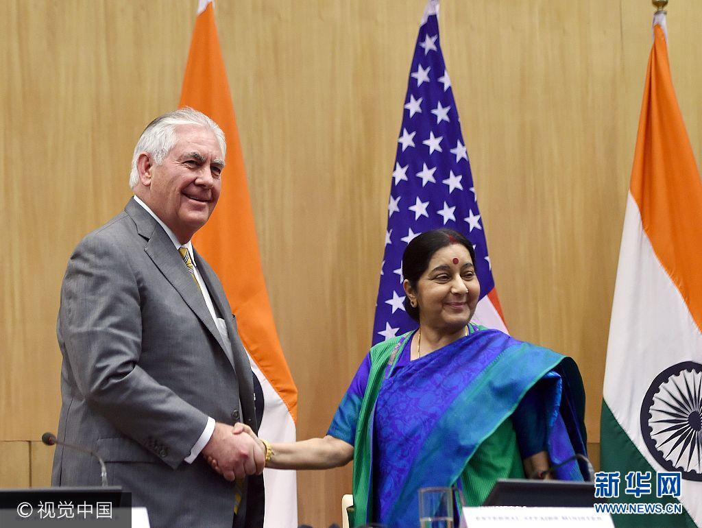 美國國務卿蒂勒森出訪印度