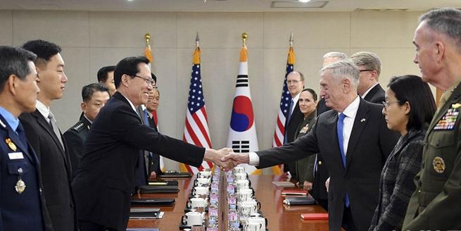 美防長馬蒂斯:美方願向韓國移交作戰權提供幫助