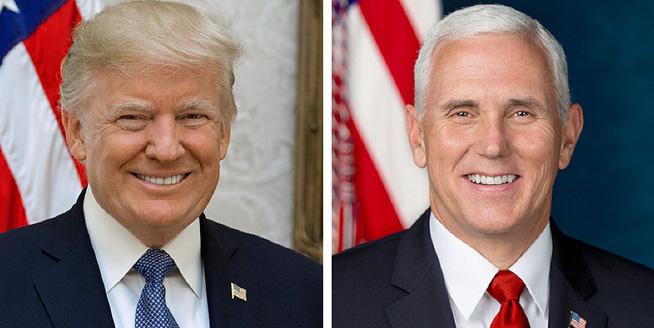 白宮發布特朗普與彭斯官方照片