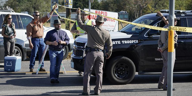 美國得州南部一教堂發生槍擊事件至少27人死亡