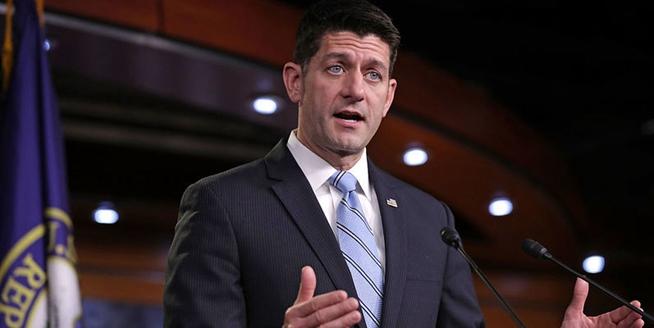 美眾院議長召開新聞發布會 就稅改法案發表講話