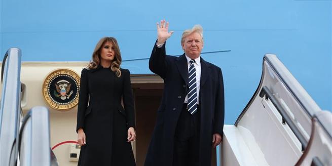 美國總統特朗普抵達北京
