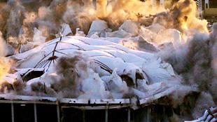 喬治亞巨蛋體育館爆破拆除 耗2.2噸炸藥